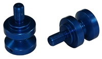 SWINGARM SPOOLS (2 PACK) Anodized BLUE Aluminum (Product code: SAS301BU)
