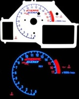 HONDA CBR600RR 03-06 REVERSE STYLE ILLUMIGLO FACE GAUGE (Product Code # SRP0708)