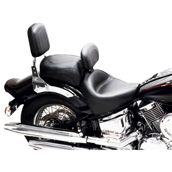 Kawasaki Vulcan 2000 Classic 2004 2009 Vintage 2 Piece Wide Touring Seat With Driver Backrest By Mustang