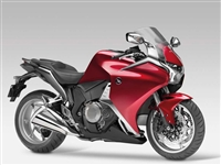 Red Honda VFR 1200 Motorcycle Fairings