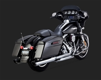 Harley Touring '95-'16 Twin Slash Round Exhaust