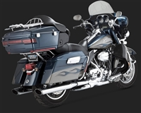 Harley Touring '95-'16 Chrome Twin Slash Exhaust