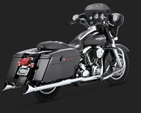 Harley Touring '95-'16 Chrome Fishtail Exhaust