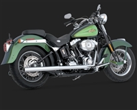 Harley Softail Chrome Duals Exhaust