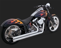 Harley Softail Chrome Longshots HS Exhaust