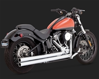 Harley Softail Chrome Big Shots Long Exhaust