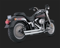 Harley Softail Double Barrel Staggered Exhaust