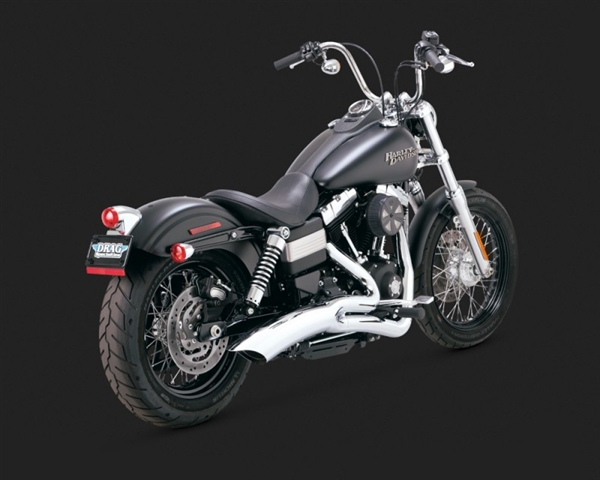 Harley Dyna '08-'10 Big Radius 2-Into-1 Catalytic Exhaust by Vance & Hines