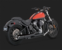 Harley Softail Black Pro Pipe Exhaust