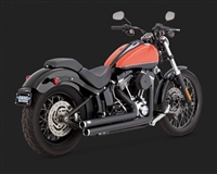 Harley Softail Black Big Shots Staggered Exhaust