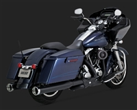 Harley Touring '09-'16 Black Power Duals Exhaust