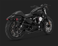 Harley Sportster Black 2-Into-1 Upsweep Exhaust