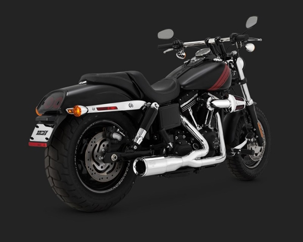 Harley Dyna '06-'17 Hi-Output 2-Into-1 Short Exhaust by Vance & Hines