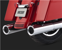 Harley Touring Hi-Output Slip On Chrome Exhaust