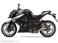 Kawasaki Z1000 Gloss Black/Silver Fairings