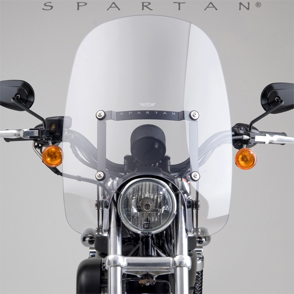 Harley Davidson Windshields >> Harley Davidson Xl1200r Xl883r Sportster 2002 2008 Clear Windshield Spartan By National Cycle